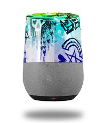 Decal Style Skin Wrap for Google Home Original - Scene Kid Sketches Rainbow (GOOGLE HOME NOT INCLUDED)