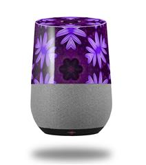 Decal Style Skin Wrap for Google Home Original - Abstract Floral Purple (GOOGLE HOME NOT INCLUDED)