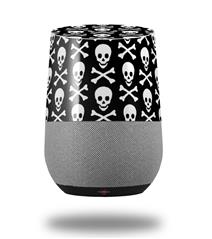 Decal Style Skin Wrap for Google Home Original - Skull and Crossbones Pattern (GOOGLE HOME NOT INCLUDED)