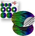 Decal Style Vinyl Skin Wrap 3 Pack for PopSockets Rainbow Zebra (POPSOCKET NOT INCLUDED)