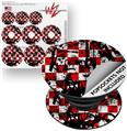 Decal Style Vinyl Skin Wrap 3 Pack for PopSockets Checker Graffiti (POPSOCKET NOT INCLUDED)