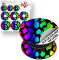 Decal Style Vinyl Skin Wrap 3 Pack for PopSockets Rainbow Leopard (POPSOCKET NOT INCLUDED)