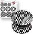 Decal Style Vinyl Skin Wrap 3 Pack for PopSockets Skull Checkerboard (POPSOCKET NOT INCLUDED)