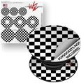 Decal Style Vinyl Skin Wrap 3 Pack for PopSockets Checkers White (POPSOCKET NOT INCLUDED)