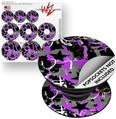 Decal Style Vinyl Skin Wrap 3 Pack for PopSockets SceneKid Purple (POPSOCKET NOT INCLUDED)