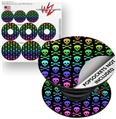 Decal Style Vinyl Skin Wrap 3 Pack for PopSockets Skull and Crossbones Rainbow (POPSOCKET NOT INCLUDED)