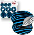 Decal Style Vinyl Skin Wrap 3 Pack for PopSockets Zebra Blue (POPSOCKET NOT INCLUDED)