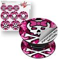 Decal Style Vinyl Skin Wrap 3 Pack for PopSockets Pink Bow Princess (POPSOCKET NOT INCLUDED)