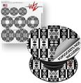 Decal Style Vinyl Skin Wrap 3 Pack for PopSockets Skull And Crossbones Pattern Bw (POPSOCKET NOT INCLUDED)