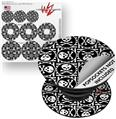 Decal Style Vinyl Skin Wrap 3 Pack for PopSockets Skull Patch Pattern Bw (POPSOCKET NOT INCLUDED)