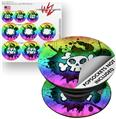 Decal Style Vinyl Skin Wrap 3 Pack for PopSockets Cartoon Skull Rainbow (POPSOCKET NOT INCLUDED)