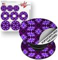 Decal Style Vinyl Skin Wrap 3 Pack for PopSockets Abstract Floral Purple (POPSOCKET NOT INCLUDED)