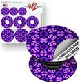 Decal Style Vinyl Skin Wrap 3 Pack for PopSockets Daisies Purple (POPSOCKET NOT INCLUDED)
