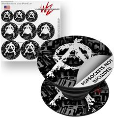 Decal Style Vinyl Skin Wrap 3 Pack for PopSockets Anarchy (POPSOCKET NOT INCLUDED)