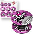 Decal Style Vinyl Skin Wrap 3 Pack for PopSockets Punk Princess (POPSOCKET NOT INCLUDED)