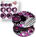 Decal Style Vinyl Skin Wrap 3 Pack for PopSockets Pink Star Splatter (POPSOCKET NOT INCLUDED)