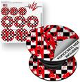Decal Style Vinyl Skin Wrap 3 Pack for PopSockets Checkerboard Splatter (POPSOCKET NOT INCLUDED)