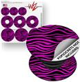 Decal Style Vinyl Skin Wrap 3 Pack for PopSockets Pink Zebra (POPSOCKET NOT INCLUDED)