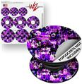 Decal Style Vinyl Skin Wrap 3 Pack for PopSockets Purple Graffiti (POPSOCKET NOT INCLUDED)