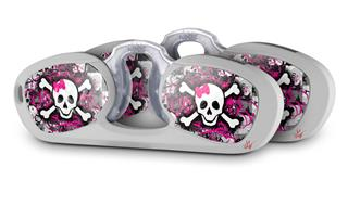 Decal Style Vinyl Skin Wrap 2 Pack for Nooz Glasses Rectangle Case Splatter Girly Skull (NOOZ NOT INCLUDED) by WraptorSkinz