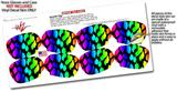 Decal Style Vinyl Skin Wrap 2 Pack for Nooz Glasses Rectangle Case Rainbow Leopard (NOOZ NOT INCLUDED) by WraptorSkinz