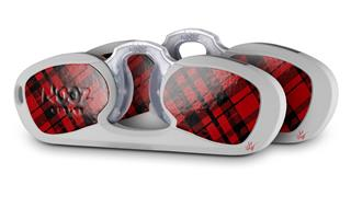 Decal Style Vinyl Skin Wrap 2 Pack for Nooz Glasses Rectangle Case Red Plaid (NOOZ NOT INCLUDED) by WraptorSkinz