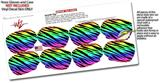 Decal Style Vinyl Skin Wrap 2 Pack for Nooz Glasses Rectangle Case Tiger Rainbow (NOOZ NOT INCLUDED) by WraptorSkinz