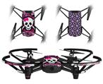 Skin Decal Wrap 2 Pack for DJI Ryze Tello Drone Splatter Girly Skull DRONE NOT INCLUDED
