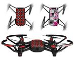Skin Decal Wrap 2 Pack for DJI Ryze Tello Drone Goth Punk Skulls DRONE NOT INCLUDED