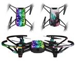 Skin Decal Wrap 2 Pack for DJI Ryze Tello Drone Rainbow Graffiti DRONE NOT INCLUDED