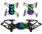 Skin Decal Wrap 2 Pack for DJI Ryze Tello Drone Rainbow Leopard DRONE NOT INCLUDED