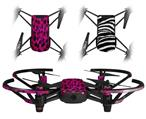 Skin Decal Wrap 2 Pack for DJI Ryze Tello Drone Pink Distressed Leopard DRONE NOT INCLUDED
