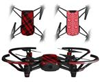 Skin Decal Wrap 2 Pack for DJI Ryze Tello Drone Red Plaid DRONE NOT INCLUDED
