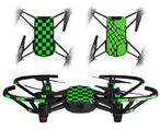 Skin Decal Wrap 2 Pack for DJI Ryze Tello Drone Checkers Green DRONE NOT INCLUDED