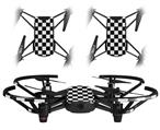 Skin Decal Wrap 2 Pack for DJI Ryze Tello Drone Checkers White DRONE NOT INCLUDED