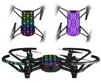 Skin Decal Wrap 2 Pack for DJI Ryze Tello Drone Skull and Crossbones Rainbow DRONE NOT INCLUDED