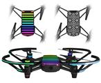 Skin Decal Wrap 2 Pack for DJI Ryze Tello Drone Stripes Rainbow DRONE NOT INCLUDED