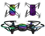 Skin Decal Wrap 2 Pack for DJI Ryze Tello Drone Tiger Rainbow DRONE NOT INCLUDED