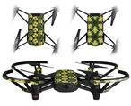 Skin Decal Wrap 2 Pack for DJI Ryze Tello Drone Daisies Yellow DRONE NOT INCLUDED