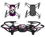 Skin Decal Wrap 2 Pack for DJI Ryze Tello Drone Pink Zebra Skull DRONE NOT INCLUDED