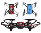 Skin Decal Wrap 2 Pack for DJI Ryze Tello Drone Emo Skull Bones DRONE NOT INCLUDED
