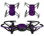 Skin Decal Wrap 2 Pack for DJI Ryze Tello Drone Purple Zebra DRONE NOT INCLUDED