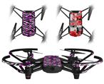 Skin Decal Wrap 2 Pack for DJI Ryze Tello Drone Zebra Pink Skulls DRONE NOT INCLUDED