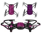 Skin Decal Wrap 2 Pack for DJI Ryze Tello Drone Pink Checkerboard Sketches DRONE NOT INCLUDED