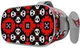 Decal style Skin Wrap compatible with Oculus Go Headset - Goth Punk Skulls (OCULUS NOT INCLUDED)