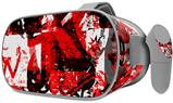 Decal style Skin Wrap compatible with Oculus Go Headset - Red Graffiti (OCULUS NOT INCLUDED)