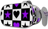 Decal style Skin Wrap compatible with Oculus Go Headset - Purple Hearts And Stars (OCULUS NOT INCLUDED)