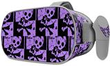 Decal style Skin Wrap compatible with Oculus Go Headset - Skull Checker Purple (OCULUS NOT INCLUDED)