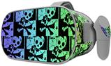 Decal style Skin Wrap compatible with Oculus Go Headset - Skull Checker Rainbow (OCULUS NOT INCLUDED)