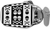 Decal style Skin Wrap compatible with Oculus Go Headset - Skull And Crossbones Pattern Bw (OCULUS NOT INCLUDED)
